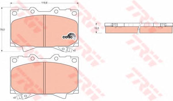 Колодки тормозные дисковые TRW/Lucas GDB3197GDB3197