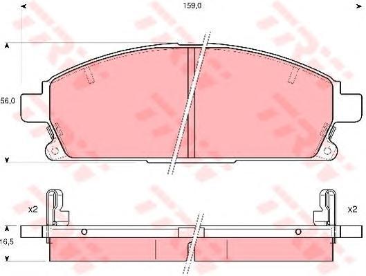 Колодки тормозные дисковые TRW/Lucas GDB3312GDB3312