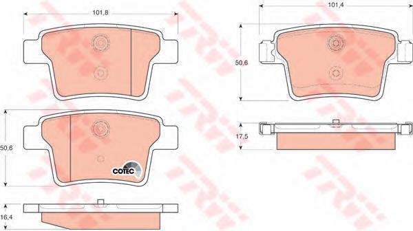 Колодки тормозные дисковые TRW/Lucas GDB1665GDB1665