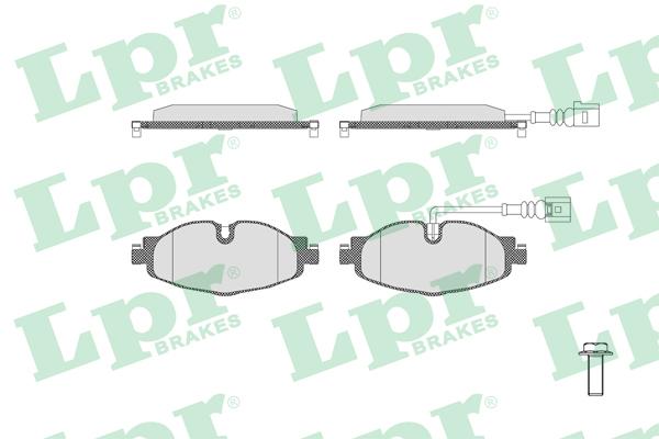 Колодки тормозные дисковые LPR / AP 05P183405P1834