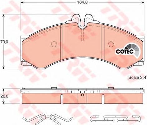 Колодки тормозные дисковые TRW/Lucas GDB1288GDB1288