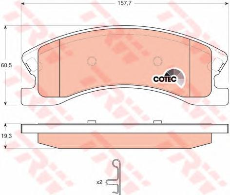Колодки тормозные дисковые TRW/Lucas GDB4133GDB4133