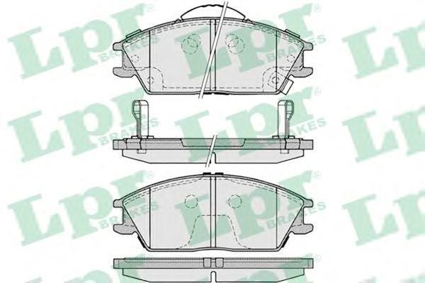 Колодки тормозные передниеLPR / AP 05P122205P1222