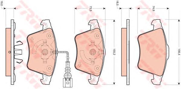 Колодки тормозные дисковые TRW/Lucas GDB1721GDB1721