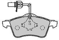 Колодки тормозные передние Mapco 65516551