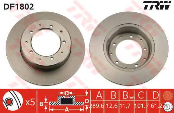 Диск тормозной TRW/Lucas DF1802DF1802