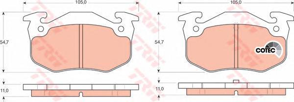 Колодки тормозные дисковые TRW/Lucas GDB1305GDB1305