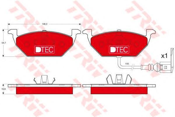 Колодки тормозные передние TRW/Lucas GDB1386DTEGDB1386DTE