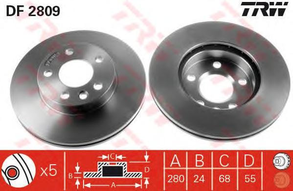 Диск тормозной TRW/Lucas DF2809DF2809