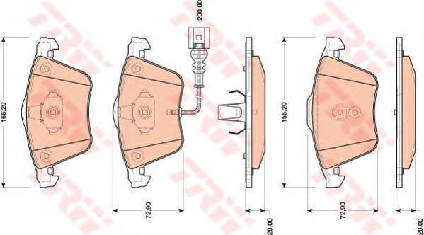 Колодки тормозные дисковые TRW/Lucas GDB1809GDB1809