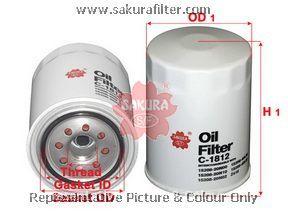 Фильтр масляный Sakura C1812C1812
