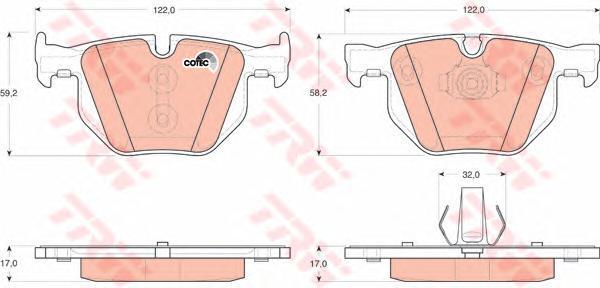 Колодки тормозные дисковые TRW/Lucas GDB1730GDB1730