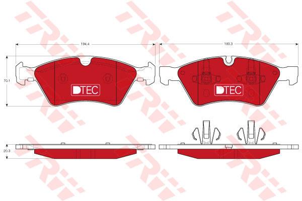 Колодки тормозные передние TRW/Lucas GDB1642DTEGDB1642DTE