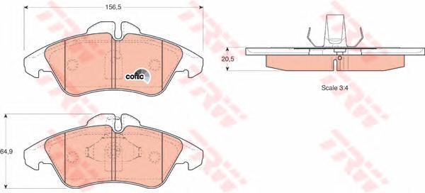 Колодки тормозные дисковые TRW/Lucas GDB1220GDB1220