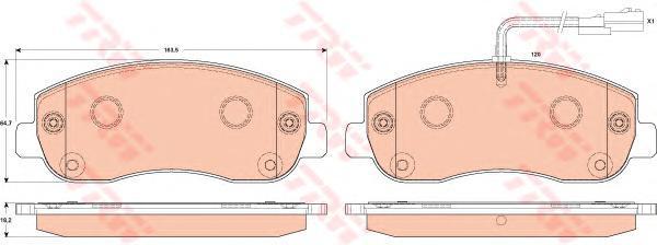Колодки тормозные дисковыеTRW/Lucas GDB1910GDB1910