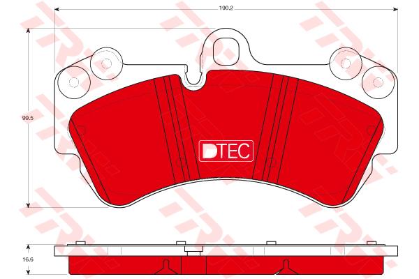 Колодки тормозные передние TRW/Lucas GDB1547DTEGDB1547DTE