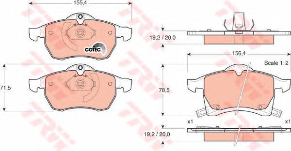 Колодки тормозные дисковые TRW/Lucas GDB1350GDB1350
