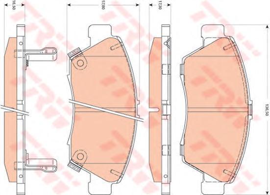 Колодки тормозные дисковые TRW/Lucas GDB3478GDB3478