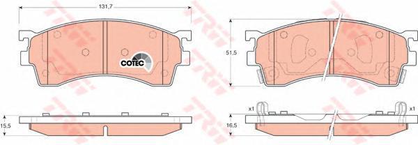 Колодки тормозные дисковые TRW/Lucas GDB3209GDB3209