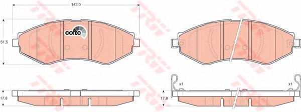 Колодки тормозные дисковые TRW/Lucas GDB3347GDB3347
