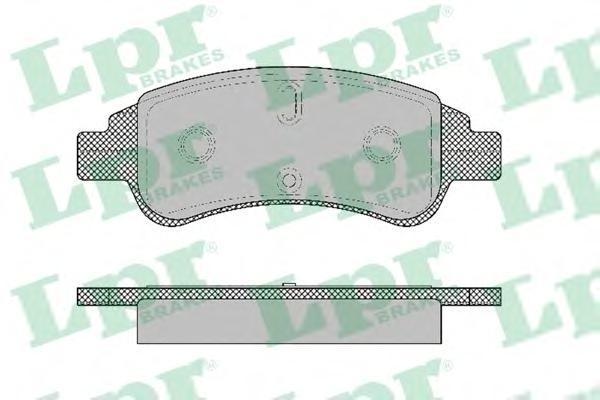 Колодки тормозные передние LPR / AP 05P132705P1327
