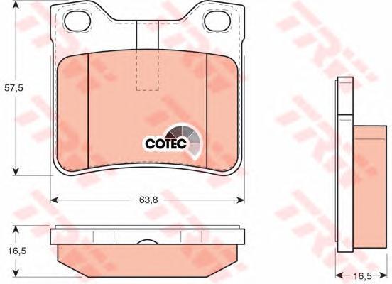 Колодки тормозные дисковые TRW/Lucas GDB1276GDB1276