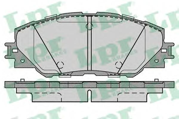 Колодки тормозные передние LPR / AP 05P128205P1282