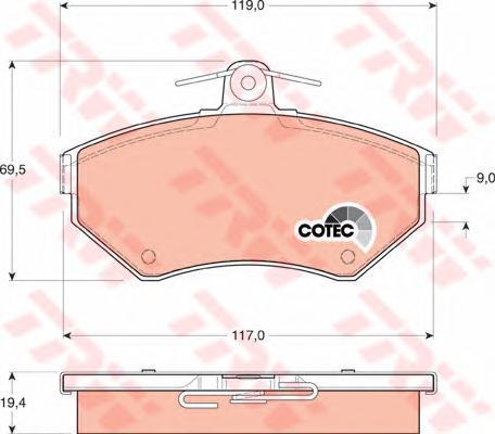 Колодки тормозные дисковые TRW/Lucas GDB1266GDB1266
