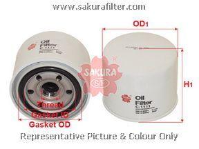 Фильтр масляный Sakura C1111C1111