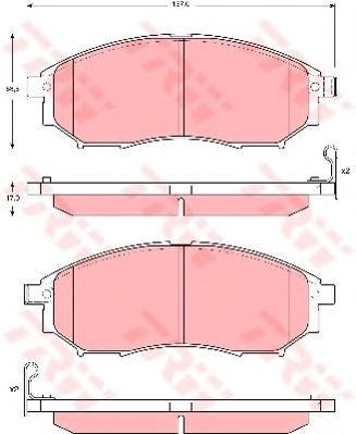 Колодки тормозные дисковые TRW/Lucas GDB3392GDB3392