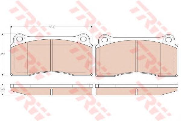 Колодки тормозные дисковые TRW/Lucas GDB1536GDB1536