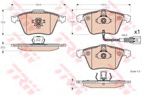 Колодки тормозные дисковые TRW/Lucas GDB1616GDB1616