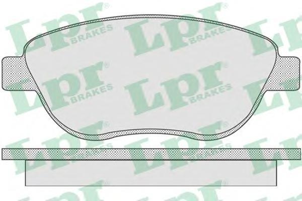 Колодки тормозные передниеLPR / AP 05P80705P807