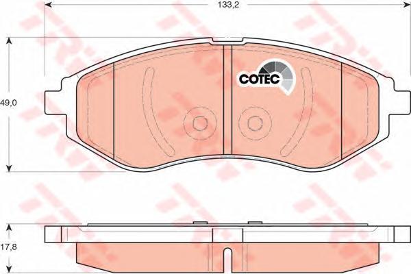 Колодки тормозные дисковые TRW/Lucas GDB3330GDB3330