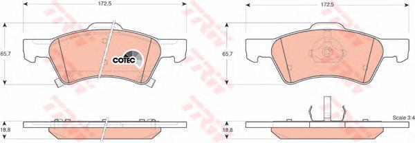 Колодки тормозные дисковые TRW/Lucas GDB4129GDB4129