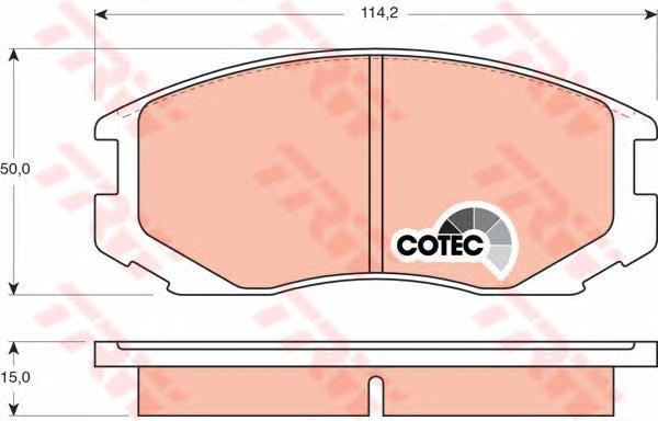 Колодки тормозные дисковые TRW/Lucas GDB3046GDB3046