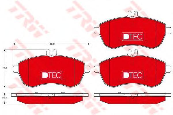Колодки тормозные передние TRW/Lucas GDB1736DTEGDB1736DTE