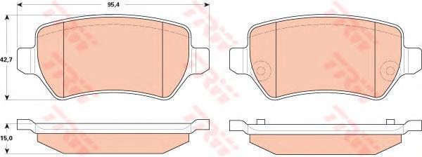 Колодки тормозные дисковые TRW/Lucas GDB1831GDB1831