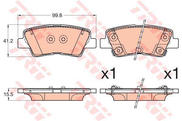 Колодки тормозные задние TRW/Lucas GDB3594GDB3594
