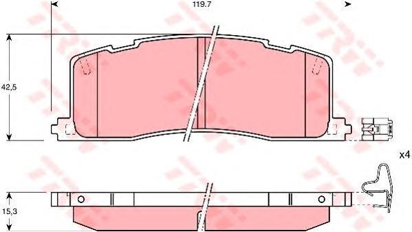 Колодки тормозные дисковые TRW/Lucas GDB1138GDB1138