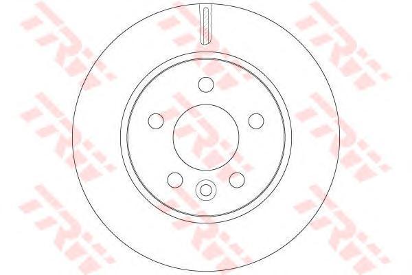 Диск тормозной TRW/Lucas DF6482 комплект 2 штDF6482