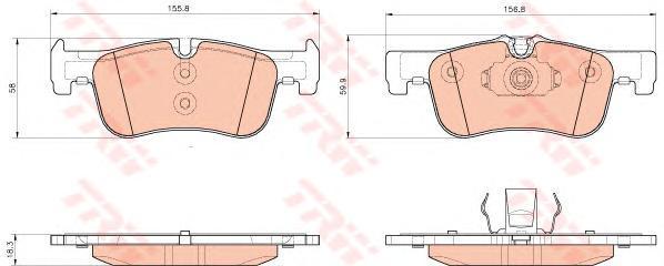 Колодки тормозные передние TRW/Lucas GDB1935GDB1935