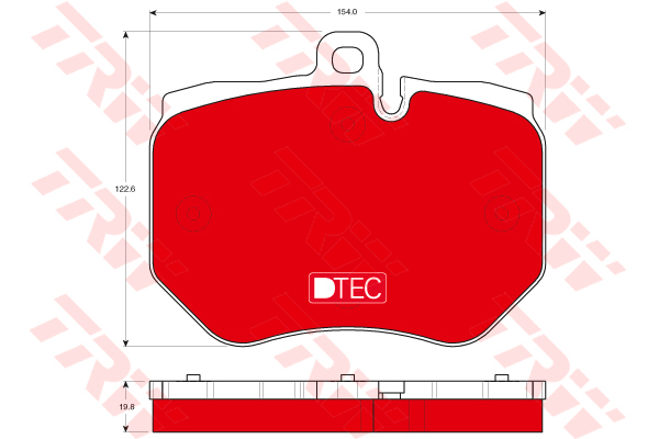 Колодки тормозные передние TRW/Lucas GDB1848DTEGDB1848DTE