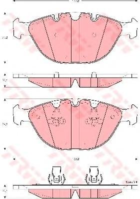 Колодки тормозные дисковые TRW/Lucas GDB1529GDB1529