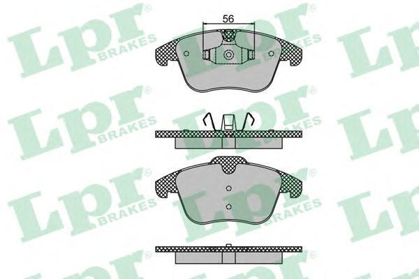 Колодки тормозные передние LPR / AP 05P148605P1486