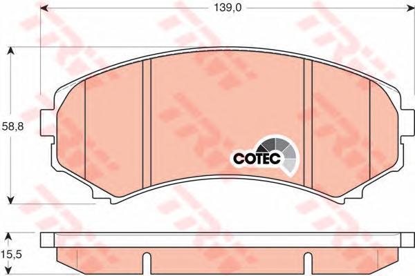 Колодки тормозные дисковые TRW/Lucas GDB3246GDB3246