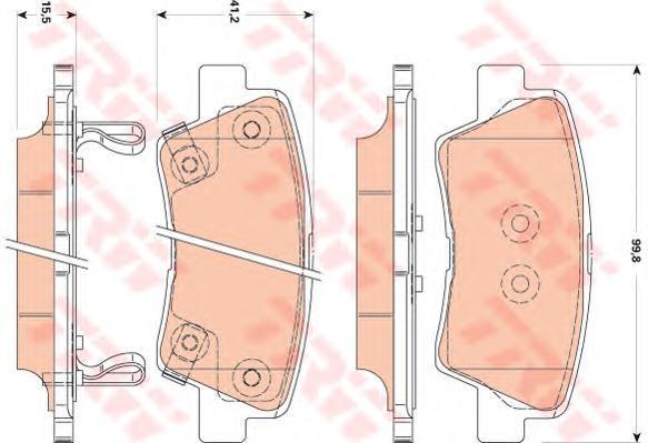 Колодки тормозные дисковые TRW/Lucas GDB3494GDB3494