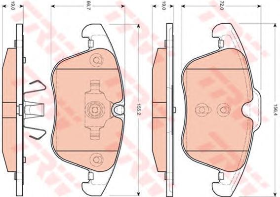 Колодки тормозные дисковые TRW/Lucas GDB1705GDB1705
