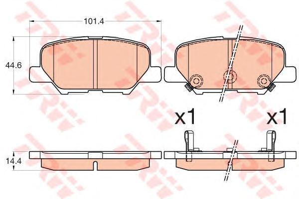 Колодки тормозные задние TRW/Lucas GDB3583GDB3583