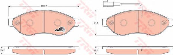 Колодки тормозные дисковые TRW/Lucas GDB1681GDB1681